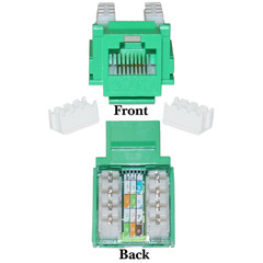 CAT5E, RJ45 Keystone Jack, 110 Style, Green Color - 310-120GR