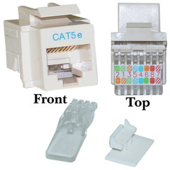 CAT5E, RJ45 Keystone Jack, Tooless, Ivory Color - 311-120IV