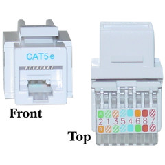CAT5E, RJ45 Keystone Jack, Tooless, White Color - 311-120WH