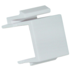 Blank Insert Module for Keystone Wall Plate, White - 321-120WH