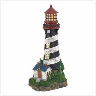 Solar Lighthouse Garden Lamp - 35719 - 35719_EW