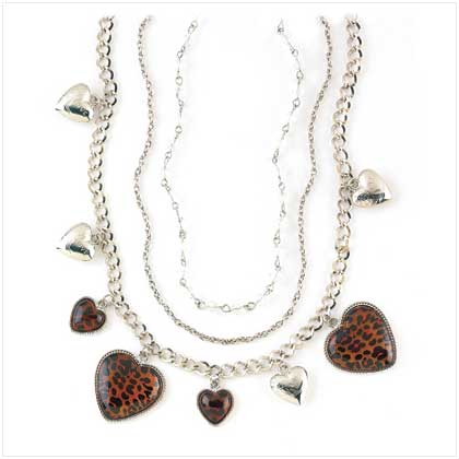 Necklace Leopard Heart Charm - 39521 - 39521_ACO