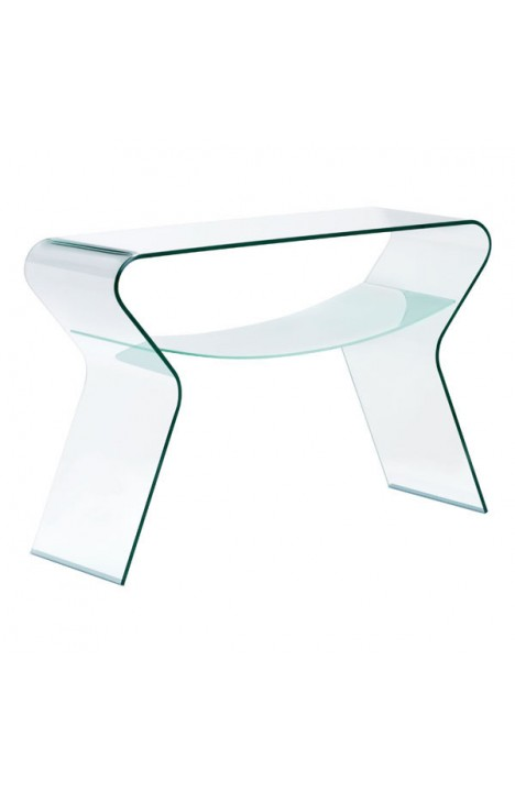 Yoga Console Table Clear & Frosted