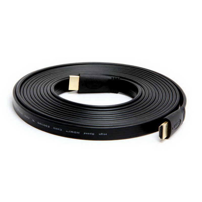 FLAT HDMI Cable CL2 Rated (Gold Plated) -15ft