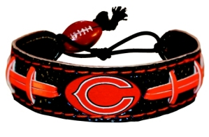 Chicago Bears Team Color Football Bracelet