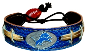 Detroit Lions Team Color Football Bracelet - 4421402187