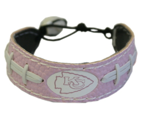 Kansas City Chiefs Pink Football Bracelet - 4421402205