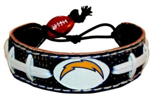 San Diego Chargers Team Color Football Bracelet - 4421402247