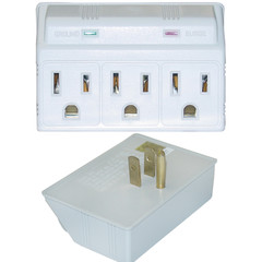 Surge Protector 3 Outlet Plug in MOV 270 Joules LED Power Indicator - 50W1-905304