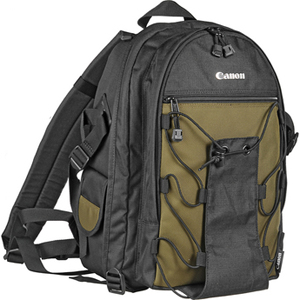 Canon 200EG Deluxe Camera Case - Backpack - Shoulder Strap - Nylon - Black, Olive - 6229A003 - 6229A003