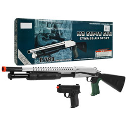 WhetstoneT P.799 M3 Super Set - Airsoft Pistol and Shotgun - 65-87367