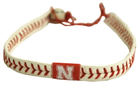 Nebraska Huskers Classic Baseball Necklace