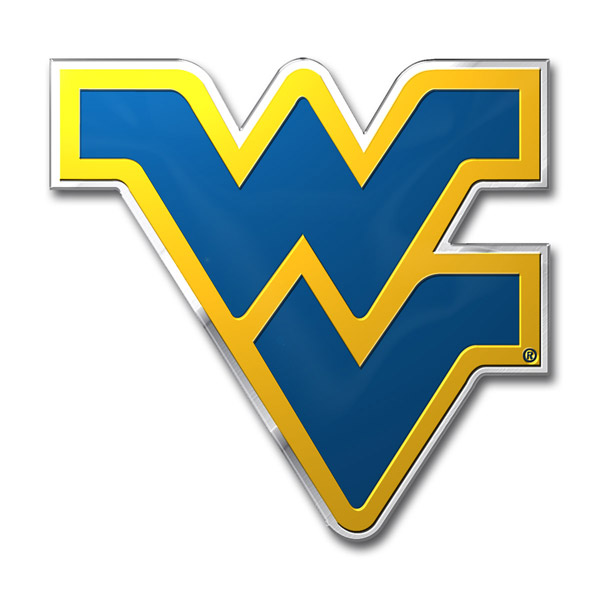 West Virginia Mountaineers Color Auto Emblem - Die Cut ...