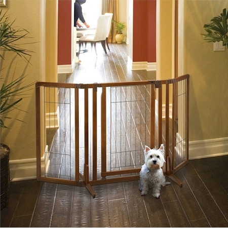 Richell Premium Plus Freestanding Pet Gate with Door - 94193