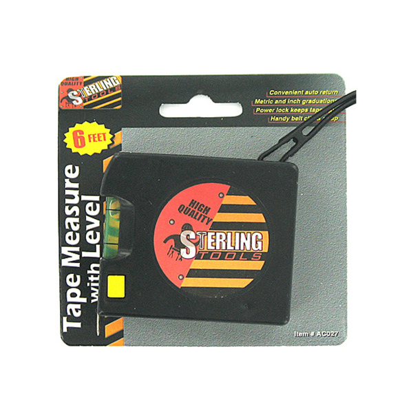 Tape Measure With Level [ 24 Pack ]