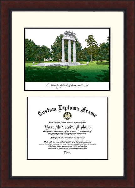 University of South Alabama  Legacy Scholar Diploma Frame