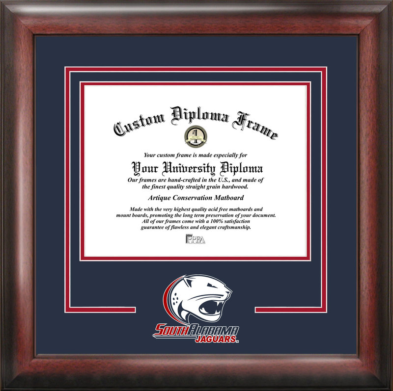 University of South Alabama Spirit Diploma Frame