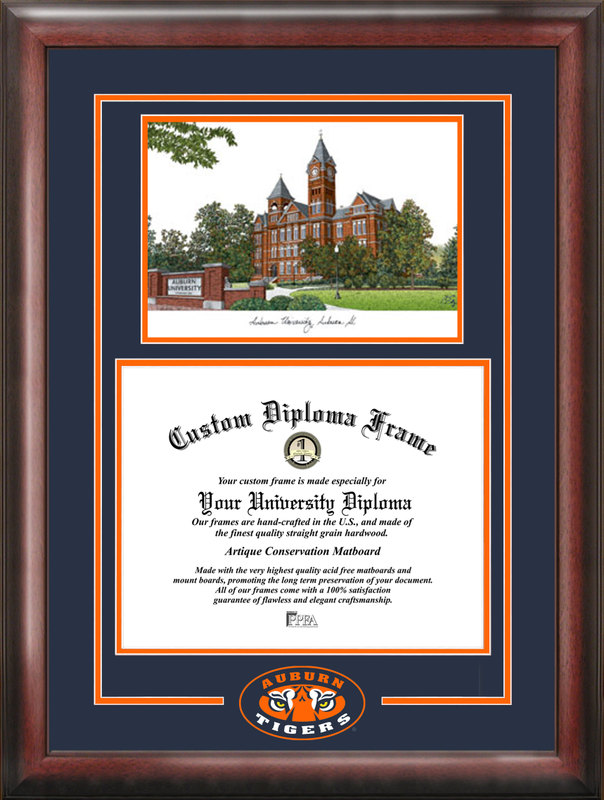 Auburn University Spirit  Graduate Frame with Campus Image