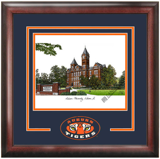 Auburn University Spirit Litho Frame