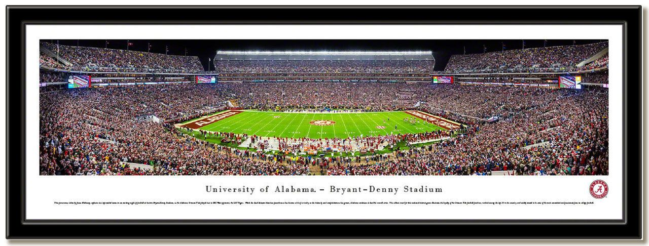 University of Alabama, Tuscaloosa Framed Stadium Print