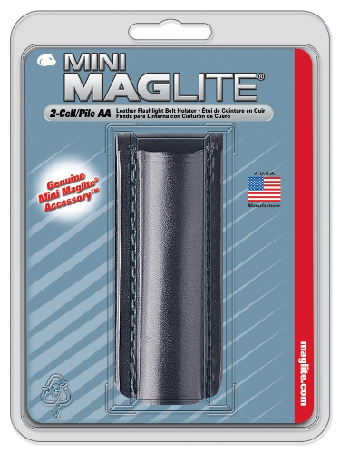 Maglite AA Black Leather Belt Holster - AM2A026 - AM2A026_jb