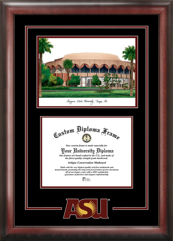 Arizona State University Spirit Graduate Frame with Campus Image
