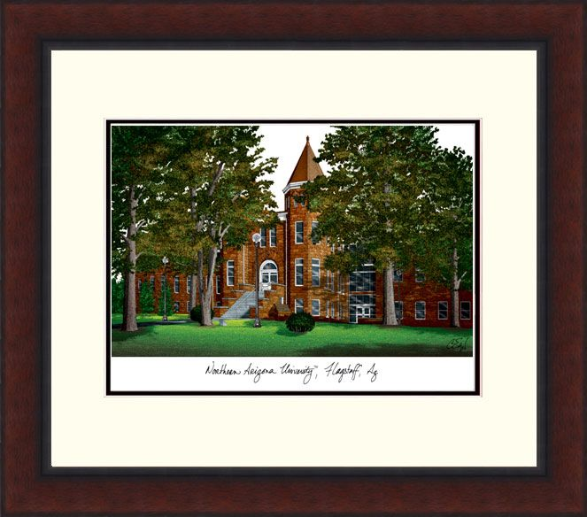 Northern Arizona University Legacy Alumnus Framed Lithograph