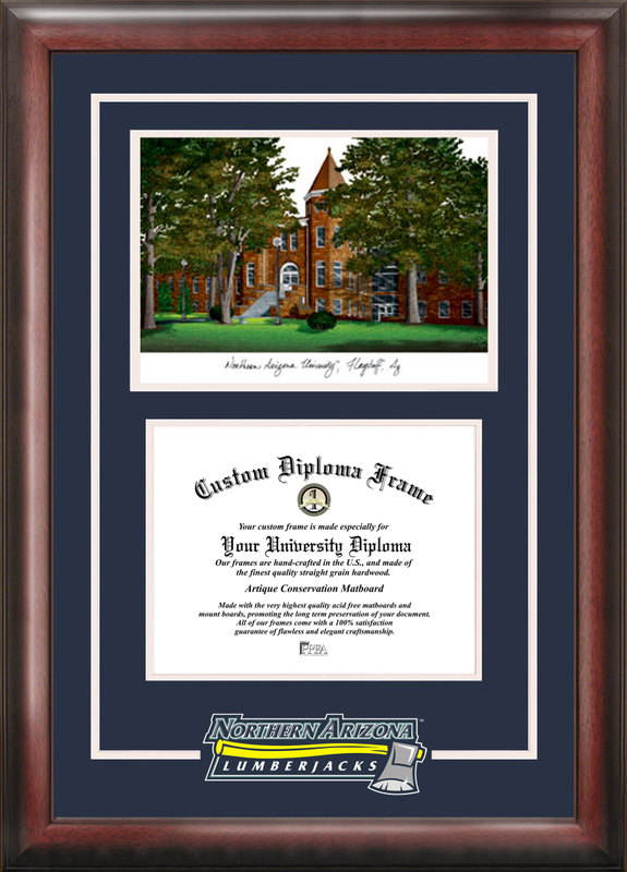 Northern Arizona University Spirit  Graduate Frame with Campus Image