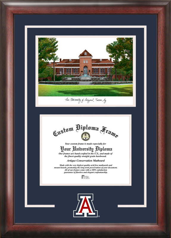 University of Arizona Spirit  Graduate Frame with Campus Image