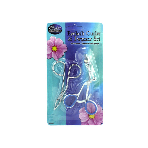 Eyelash Curler And Tweezers Set [ 24 Pack ]