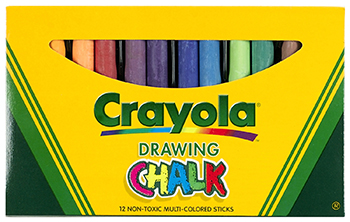 Crayola Colored Drawing Chalk Asst - BIN403