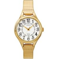 Carriage C3C238 Wmns Goldtone Expansion Band White Dial Watch