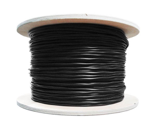 CAT6E  UV Outdoor CMX Cable, 23AWG, 4 Pairs, Solid, 1000 ft - Black, C6CMX-2043BK