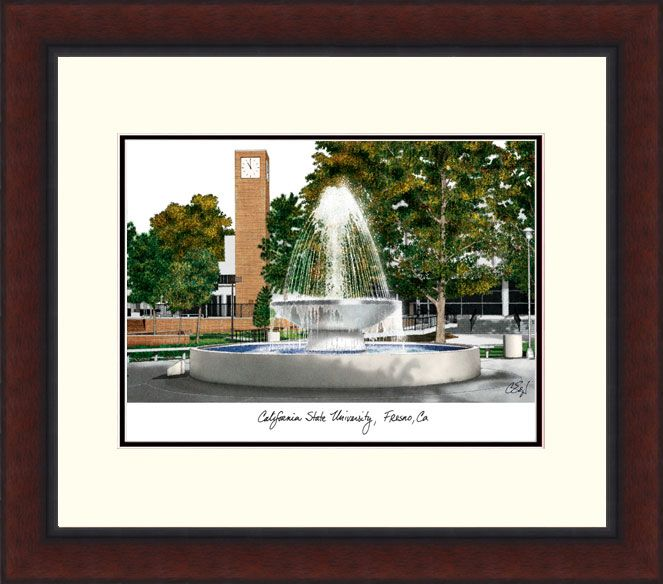 Cal State Fresno Legacy Alumnus Framed Lithograph - CA920LR