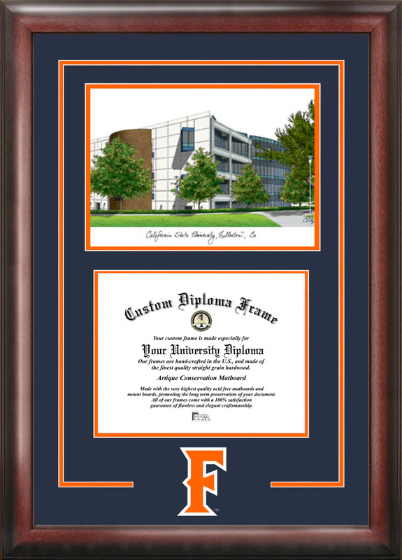 California State University, Fullerton Spirit Graduate Frame with Campus Image