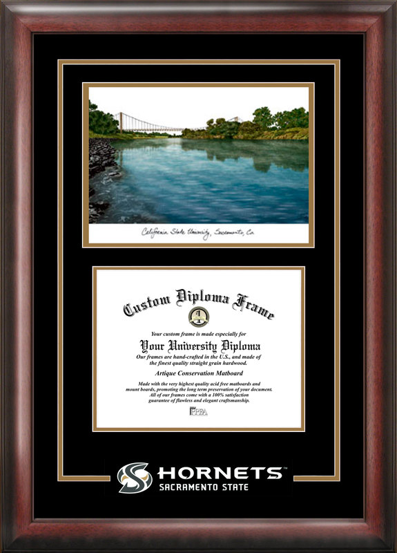 California State Sacramento University Spirit Graduate Frame with Campus Image