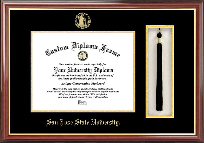 San Jose State University  Tassel Box and Diploma Frame