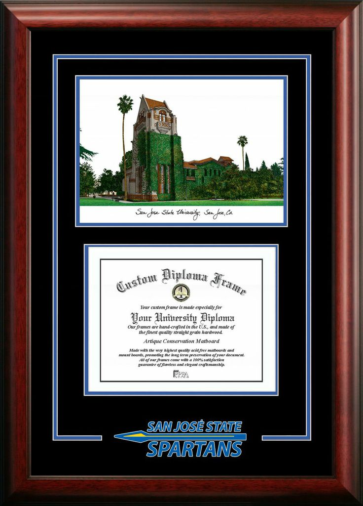San Jose State University Spirit Graduate Frame with Campus Image