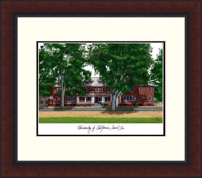 University of California, Davis Legacy Alumnus Framed Lithograph
