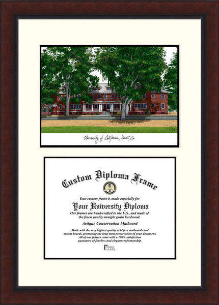 University of California, Davis  Legacy Scholar Diploma Frame