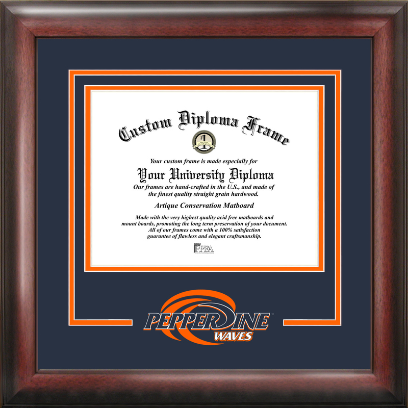 Pepperdine University Spirit Diploma Frame