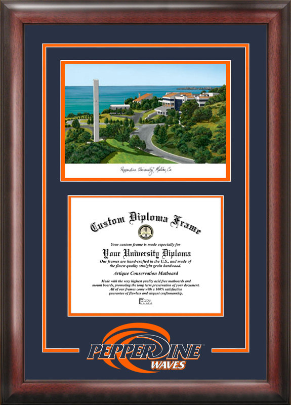 Pepperdine University  Spirit Graduate Frame with Campus Image