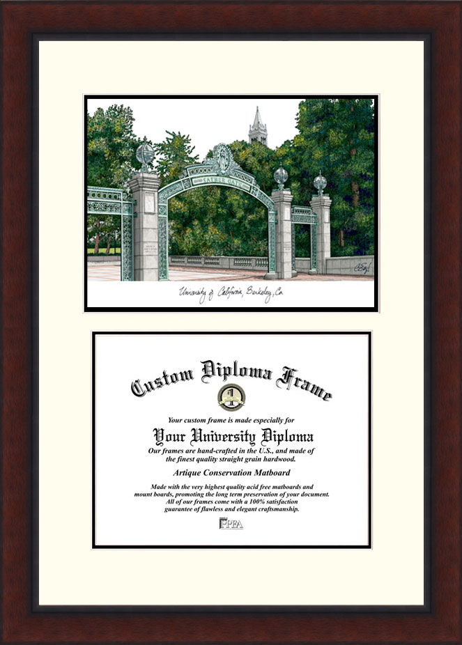 University of California, Berkeley  Legacy Scholar Diploma Frame