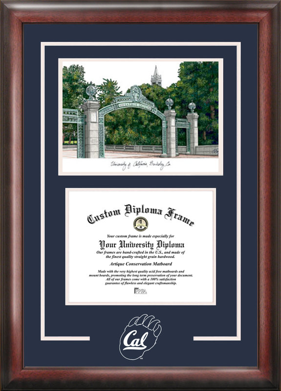 University of California, Berkeley Spirit Graduate Frame with Campus Image