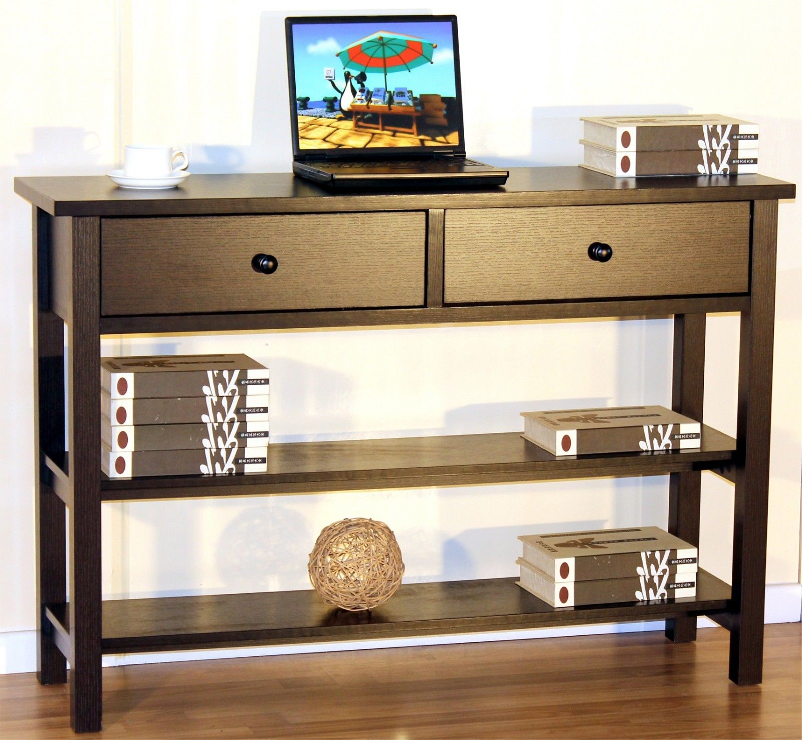 Modern Console Display Table w/ 2 Drawers