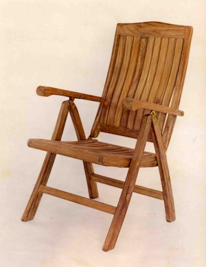 Anderson Teak CHR120 5-Position Recliner Folding Armchair