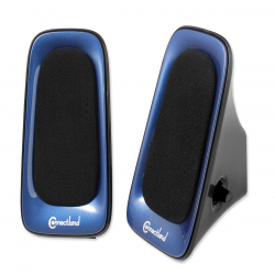 SYBA Multimedia Speaker System for Music, Movies and Games, Color in Blue and Black, USB Powered - CL-SPK20098
