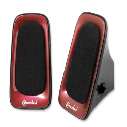 SYBA Multimedia Speaker System for Music, Movies and Games, Color in Red and Black, USB Powered - CL-SPK20100