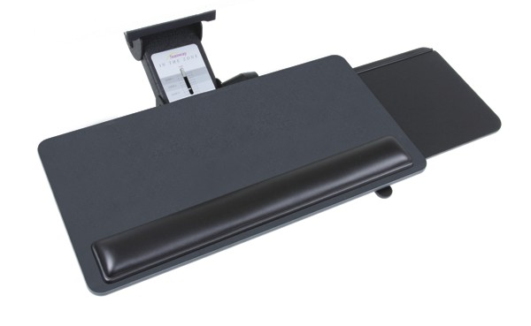 Sunway CMLZ408CH Lift and Lock Adjustable Keyboard Tray System with Slide-Out Mouse Tray - CMLZ408CH - CMLZ408CH