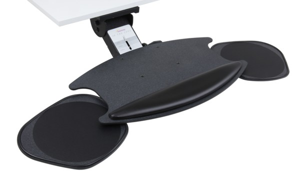Sunway CMLZO449CH Lift & Lock adjustable keyboard tray system with double-mouse ORBIT tray